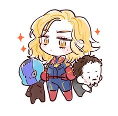 Chibi Marvel, Marvel Art, Marvel Avengers, Marvel Comics, Captain Marvel Carol Danvers, Marvel Drawings, Bucky Barnes, Comic Artist, Marvel Cinematic Universe