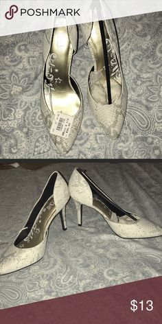 556745562067 Snake Skin Patterned Heels New with tags! These sassy shoes are just what  you need