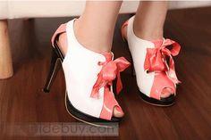 PU Upper Stiletto Heels Peep Toe Women's Shoes