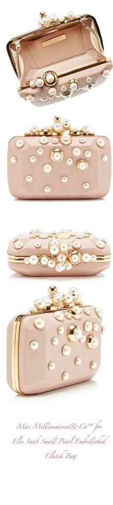 Elie Saab Small Pearl Embellished Clutch