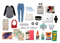 """""""Back to school"""" by daisygirl-362 ❤ liked on Polyvore featuring Wilfred, Vetements, NIKE, Topshop, Casetify, Beats by Dr. Dre, Larsson & Jennings, Brooks Brothers, Mead and ACCO"""
