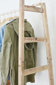 Diy Ladder Wardrobe