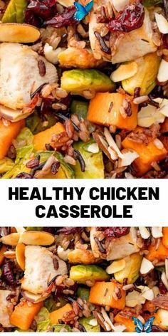 This satisfying casserole has ALL of your fall favorites. Make it for a big crowd, or pack it up and eat the leftovers for lunch! It's a meal prep DREAM. #chickenrecipes #dinner #easyrecipes #food #cooking<br> Dinner Recipes Easy Quick, Healthy Pasta Recipes, Healthy Pastas, Spicy Recipes, Quick Easy Meals, Lunch Recipes, Cooking Recipes, Simple Recipes, Amazing Recipes