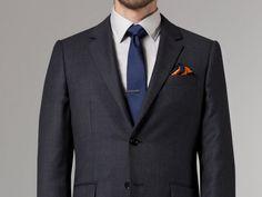 Coal Birdseye Suit 1