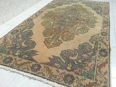 Turkish oushak rug, pastel turkish rug,handwoven rug, Turkish rug,nomadic rug,antique oushak rugs,overdyed rugs, 7'1x4'1 ft by Simavrug on Etsy