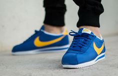 Nike Cortez Nylon: Blue/Yellow