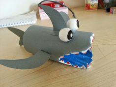 Hai aus Klopapierrolle