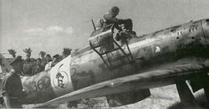 MC205V Veltro Italian fighter. A brand-new C205V of the 51 Stormo on its arrival at is base at Sardegna