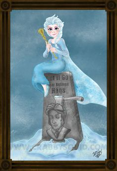 Items similar to Disney Frozen Elsa Haunted Mansion Fan Art 13 x 19 inch poster. on Etsy - This is a 13 x 19 inch print on premium matte paper, and hand signed by the artist. Water mark will - Disney Fan Art, Disney Girls, Disney Love, Disney Magic, Dark Disney, Disney Artwork, Disney Stuff, Disney And Dreamworks, Disney Pixar