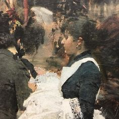 Giacomo Favretto - detail from Modern Stroll. MuseoCorrer