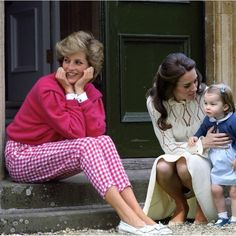 I came across this photo on page and I literally took a double take it looks sooo perfectly real! Could you imagine what kind of Granny she would've been? Prince And Princess, Princess Kate, Princess Charlotte, Diana Spencer, Kate Middleton Family, Princess Katherine, Princess Diana Pictures, English Royal Family, Kate And Meghan