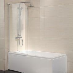 Half glass door Tub with glass door, Glass door, Small tub