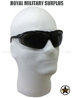 Tactical Glasses - Army/Military/Special Forces Sun Lens - BLACK    BLACK (Smoke Lens - Reduce Light) Army/Military/Commando/Special Forces Made following Military Specifications Impact Resistant (CSA Z94.3-07) 99.9% UV Protection Light, Durable and Adjustable Anti-Scratch Coated Lens BRAND NEW http://royalmilitarysurplus.com/Goggles-Glasses_c34.htm