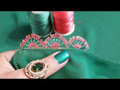 🌹Çok begeneceginiz zarif igneoyasi modelim🌹Harika renk tonlariyla😊 - YouTube Saree Border, Designs For Dresses, Handmade Jewelry Designs, Needle Lace, Lace Making, Quilling, Class Ring, Diy And Crafts, Make It Yourself