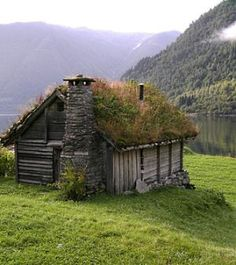 Thesod roofson the cabins and cot-tages are  examples  of early Norwe-gian  designs. Green roof designs such  as  these  can still be found in many parts of  Scandinavia  and  are currently  enjoying  a  resurgence    in popularity.