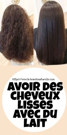 Avoir des cheveux lisses avec du lait Smooth hair is an icon of beauty for years, it remains a choic Beauty Tips For Face, Beauty Hacks, Natural Face Moisturizer, Smooth Hair, Natural Solutions, Beauty Women, Afro, Remedies, Milk