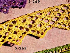 Diy Crafts - Knitted Edging pattern from Edgings for All Purposes, Clark's O. J Coats, Book No. Lace Knitting, Knitting Stitches, Crochet Yarn, Knitting Patterns Free, Vintage Knitting, Knit Patterns, Stitch Patterns, Vintage Patterns, Diy Crafts Knitting