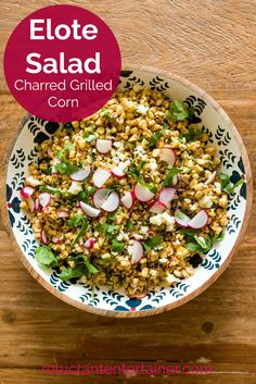 Charred Grilled Corn Salad has bold flavors like chile, lime, and jalapeños with corn. This recipe is inspired by Elote, Mexican street corn. Roasted Corn Salad, Grilled Corn Salad, Mexican Street Corn Salad, Corn Salads, Food Out, One Pot Meals, Mexican Food Recipes, Dessert Recipes, Stuffed Peppers