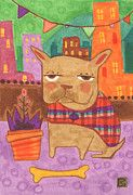 French Bulldog Art Art - French Bulldogs are Just Fancier by Kate Cosgrove