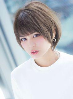 小顔ラインと耳掛けの夏スタイル【AFLOAT JAPAN】http://beautynavi.woman.excite.co.jp/style/detail/55515?pint≪ #shorthair #shortstyle #shorthairstyle #hairstyle・ショート・ヘアスタイル・髪形・髪型≫