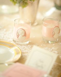 Love these cameo candles.