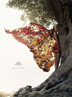 (Hermes ad) I love how this looks like butterfly wings!