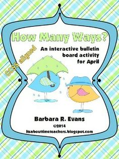 Exercise critical thinking while practicing math skills with How Many Ways? -- April Edition. Provides differentiation for all elementary grade levels and lasts for the entire month. Similar to Boggle, but for math. CCSS aligned. $ #mathcenters #computation #CCSS #criticalthinking #differentiation #BarbEvans #itsabouttimeteachers