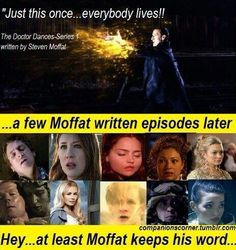 Well that's once that Moffat kept his word. (Rule #1: Moffat lies.)
