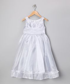 Take a look at this Silver Organza Beaded Dress - Toddler & Girls by Kid's Dream on #zulily today!