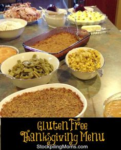 Recipes, Menu Plan and Tips to make your Gluten Free Thanksgiving a Happy One!  A must pin!