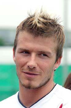 David Beckham's Short, Mohawk, Faux Hawk, Messy Hairstyle: David Beckham Faux Hawk Hairstyles
