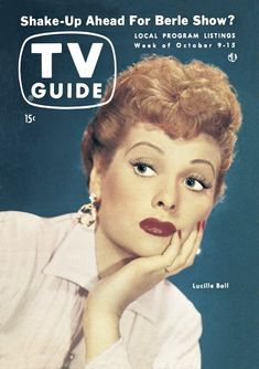 List Of Magazines, Vintage Magazines, I Love Lucy Show, Lucille Ball, Vintage Tv, Vintage Items, Old Tv Shows, Tv Guide, Classic Tv
