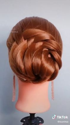 Hairdo For Long Hair, Bun Hairstyles For Long Hair, Braided Hairstyles, Hair Up Styles, Natural Hair Styles, Hair Style Vedio, Hair Videos, Food Videos, Hair Hacks