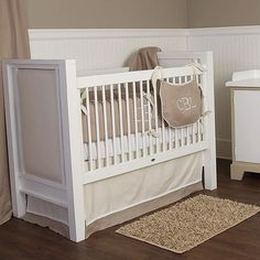 Shelton Baby Bedding from PoshTots...love how simple and classic this set is.