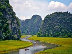 Karst Hills And Paddy Fields of Tam Coc, Vietnam