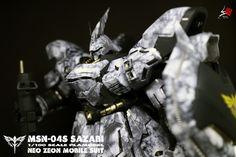 MG MSN-04S SAZABI WHITE MARBLE Ver. 사자비 화이트마블(대리석) 도색 : 네이버 블로그