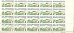 1959 Scott  1133  Block of 20  4 Cent  US Postage Stamp by JACKIGO