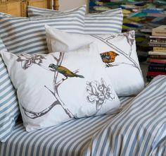 dwell studio, draper sheet set with chionoiserie duvet set, ADORE this combo. love love love it.
