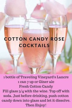 Exited to try this fun, unique little cocktail at my wine tasting this afternoon. Lancre a dry rose, ginger ale and cotton candy.... let's see