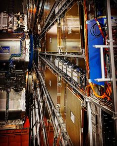 A small part of the #Atlas #detectors #array at the #core of the #largehadroncollider #lhc #particle #accelerator at #CERN -- 100m #bellow #earth measuring 46m long 25m wide and high @ 7000 tonnes!