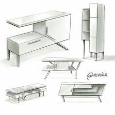furniture sketch Design Sketchbook 2016 on Behance Drawing Furniture, Design Furniture, Home Decor Furniture, Modern Furniture, Furniture Sketches, Futuristic Furniture, Furniture Projects, Furniture Makeover, Interior Architecture Drawing