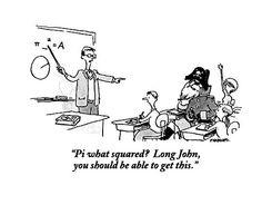 Pi What Squared? Long John by Pat Byrnes - Mathe Ideen 2020 Math Puns, Math Memes, Science Jokes, Math Humor, Algebra Humor, Funny Math Jokes, Class Memes, Science Fun, Maths