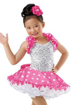 Girls' Sequin Dot Recital Dress; Weissman Costumes