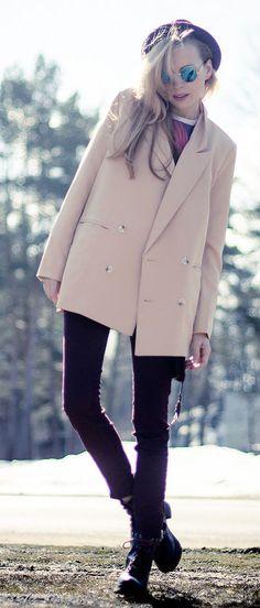 e9c48d5d8c72f8 nude blazer Winterwärmer, Mode Statements, Schildpatt, Komplette Outfits,  Tägliche Mode, Mode