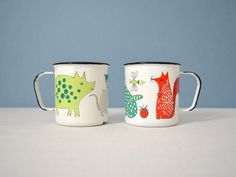 Vintage Finel Noah's Ark Children's Mugs on Etsy, Sold