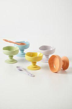 Porcelain Plinth Bowl - by dbO Home (artist Dana Brandwein Oates). Dishwasher safe too! anthropologie.com
