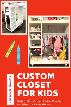 Ready to sand lightly, paint and install on sofas, easy chairs, beds, desks and shelves. Workshop Organization, Dream Closets, Closet Storage, Play Houses, Projects For Kids, Cool Toys, Wood Crafts, Shelving, Woodworking