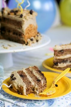 Healthy Banana Cake and Peanut Butter Frosting | by Sonia! The Healthy Foodie