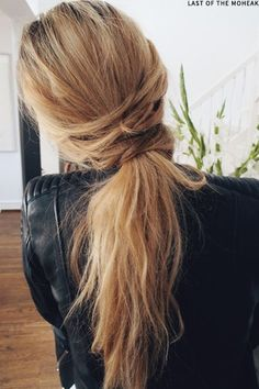 Low Ponytail Inspiration | sheerluxe.com