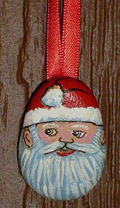~Santa Xmas Tree Painted Rock Ornament, via Flickr~
